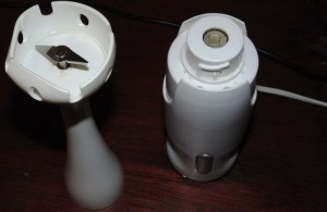 Two Separate Parts of a Hand Blender