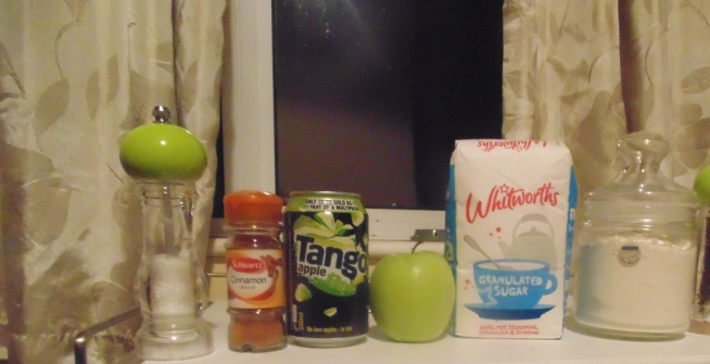 Ingredients For Tango Fritters, Ice Cream and Caramel Sauce