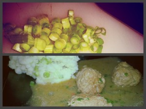 Mashed Potatoes with Spring Onions - Serving Suggestions To Accompany Dean Edwards Thai Pork Meatball Curry