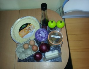 Ingredients for Graham's Caramelised Red Onion and Goats Cheese Tart