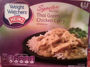 Weightwatchers Thai Green Chicken Curry