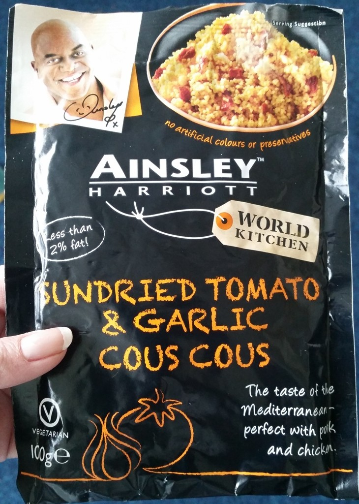 Ainsley Harriott's Sun Dried Tomato & Garlic Cous Cous In It's Packet