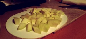 Chopped Apples Ready For Strictly Suppers #5 – Apple Charleston (Apple Charlotte)