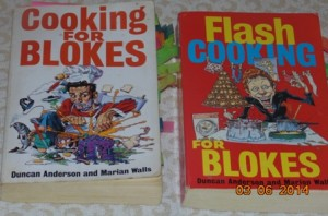Two Of The Cooking For Blokes Series of Recipe Books