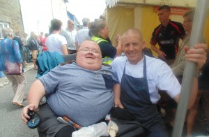 Chef Will Holland (Coast, Saundersfoot) and I at the the Aberaeron Fish Festival