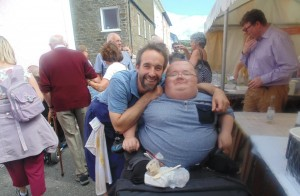 Chef Stephen Terry (The Hardwick, Abergavenny) and I at the the Aberaeron Fish Festival
