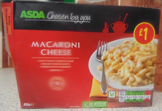 "Ready Meal Monday - The box of Asda's ""Macroni Cheese"""