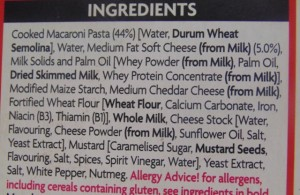 "Ready Meal Monday - Asda ""Macroni Cheese"" Ingredient List"