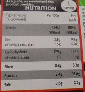 "Ready Meal Monday - Asda ""Macroni Cheese"" Nutritional Information"