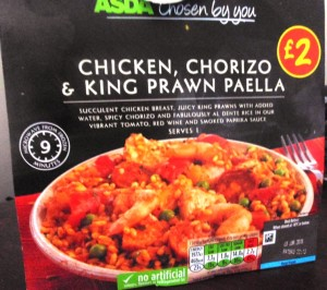 Ready Meal Monday – Asda Chicken, Chorizo and King Prawn Paella In It's Box