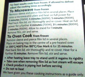 Ready Meal Monday – Asda Chicken, Chorizo and King Prawn Paella Cooking Instructions