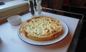 Graham's Caramelised Red Onion and Goats Cheese Tart in All It's Glory