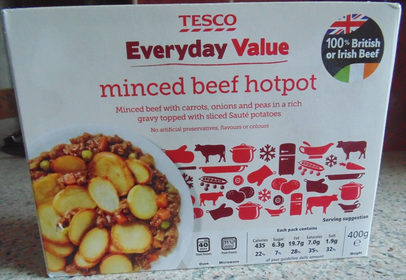 Ready Meal Monday - Tesco Beef Hot Pot in it's Box