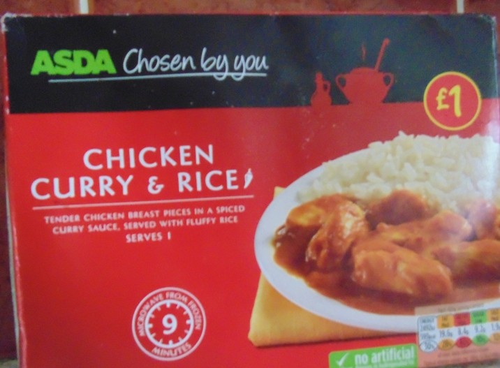 Ready Meal Monday Asda Chicken Curry And Rice Wheelie