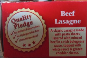 Ready Meal Monday - Description of Bisto Lasagne