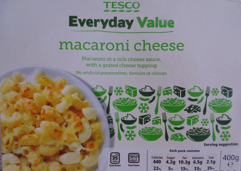 Ready Meal Monday - Tesco Macaroni Cheese In Its Box