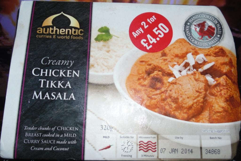 Authentic Curry Company Chicken Tikka Masala Box