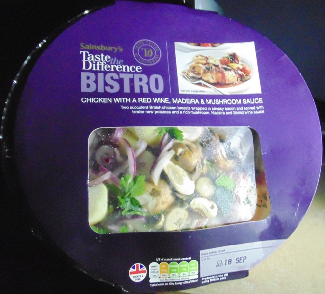 Ready Meal Monday - Bistro Chicken with a Red Wine, Madeira and Mushroom Sauce In Its Box