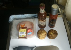 Ingredients for Alice's Mid Week Piri Piri BBQ Chicken and Patatas Bravas