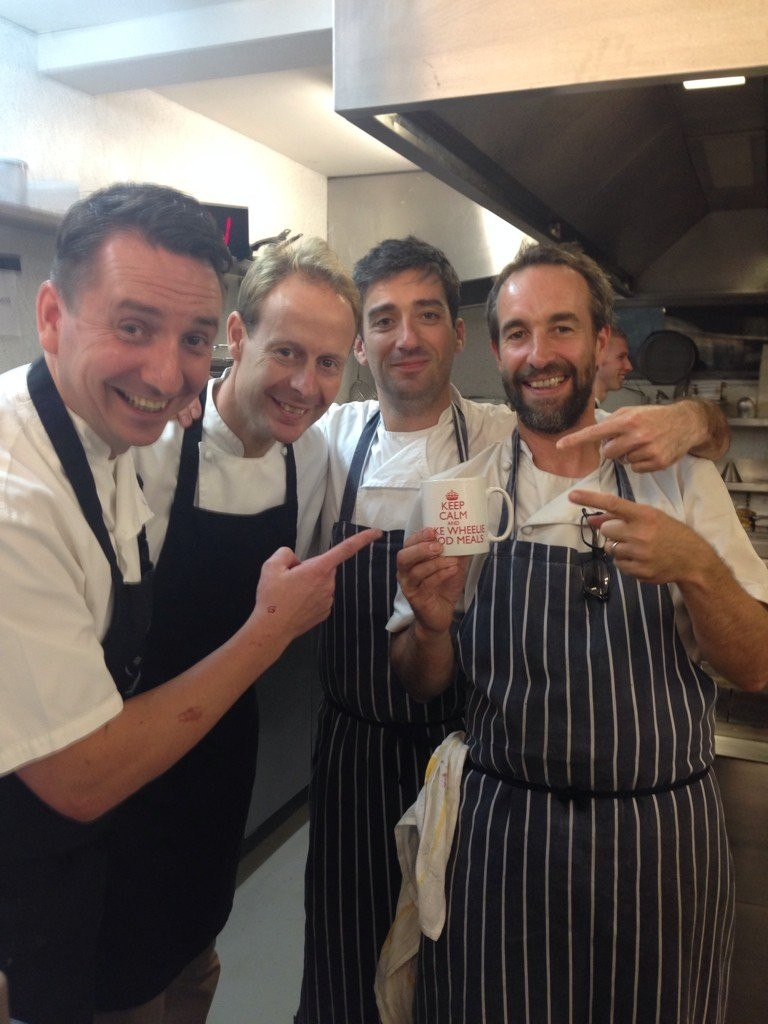 Chef's from The Hardwick sporting a Wheelie Good Meal mug :D