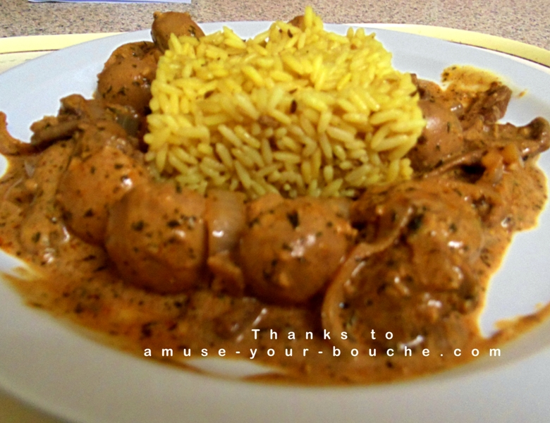 Store Cupboard Mushroom Stroganoff With Pilau Rice