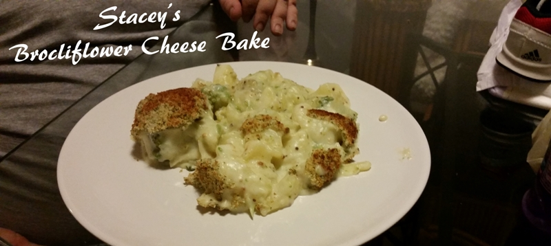 Stacey's Brocliflower Cheese Bake