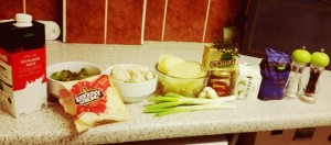 Some of the Ingredients for Stacey's Brocliflower Cheese Bake