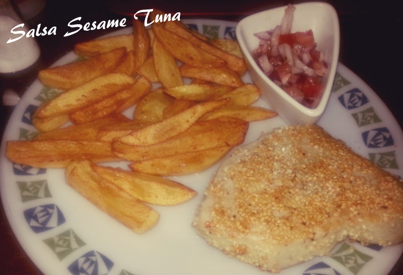 Strictly Supper #3 - Salsa Sesame Tuna and Mam's Home Made Chips