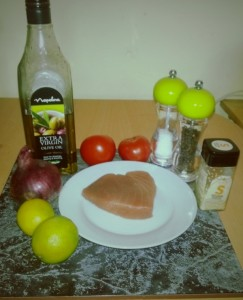 Ingredients for Strictly Supper #3, Salsa Sesame Tuna