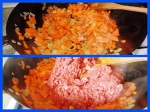 Stage One Of Frying The Carrots, Onions and Mice For The Comforting Classics - Shepherd's Pie