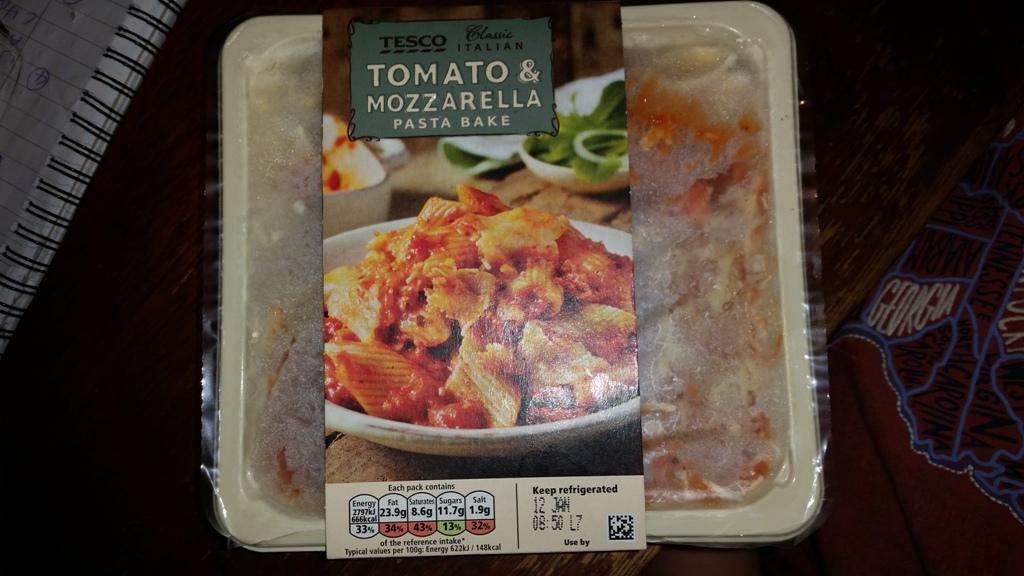 Time-Saving Tuesdays - Tesco Tomato and Mozzarella Pasta Bake In It's Packet