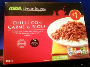 Time-Saving Tuesdays Asda Chilli Con Carne and Rice - In It's Box