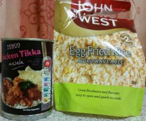Time-Saving Tuesdays – Tesco Chicken Tikka Masala and John West Egg Fried Rice