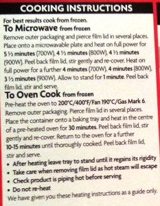 Time-Saving Tuesdays Asda Chilli Con Carne and Rice - Cooking Instructions