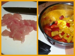 Speedy Sweet and Sour Chicken - Chopping The Ingredients