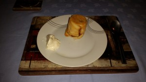 Dinner Party #2 – December 2014 - Dessert - Apple Charleston Served with Cream Chantilly