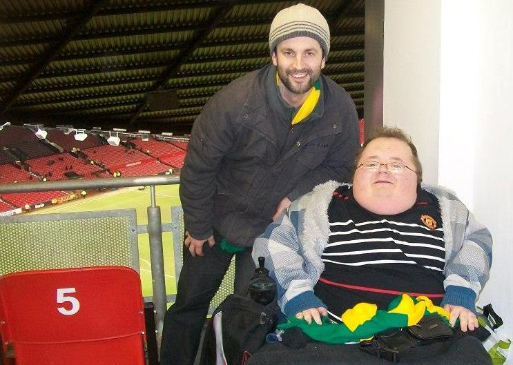 Greg and I at Old Trafford