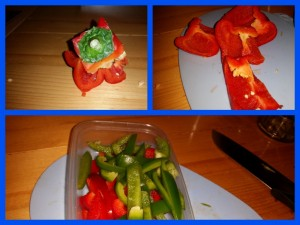 Pepper and Onion Stir-Fry Thing - How to De-Cheek A Pepper
