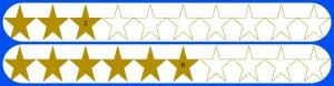3 and 6 Stars