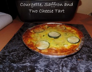 Courgette, Saffron and Two Cheese Tart