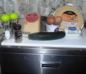 Ingredients for Courgette, Saffron and Two Cheese Tart