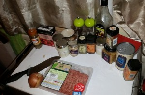 Some of the Ingredients For Dean Edwards Lamb Kofta Curry