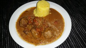 The second time I served my Dean Edwards Lamb Kofta Curry and Saffron Rice