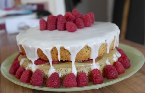 Melanie's Food Adventures – Lemon, Poppy Seed and Raspberry Cake - Iced and Decorated
