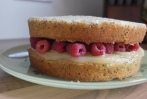Melanie's Food Adventures – Lemon, Poppy Seed and Raspberry Cake - Filling The Middle