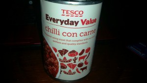 Time-Saving Tuesdays – Tesco Tinned Chilli Con Carne - In it's tin