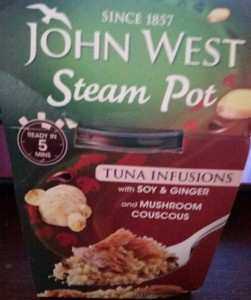 Time-Saving Tuesdays – John West Tuna Infusion Steam Pot - Front Of The Package