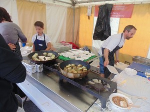Cardigan Bay Seafood Festival 2015 - Chef Stephen Terry working his socks off