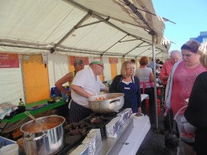 Cardigan Bay Seafood Festival 2015 - Chef's cooking up a storm