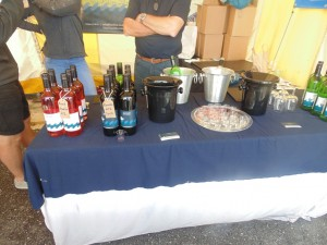 Cardigan Bay Seafood Festival 2015 - Lots of fantastic wine on display from Gwinllan Llaethliw Vineyard